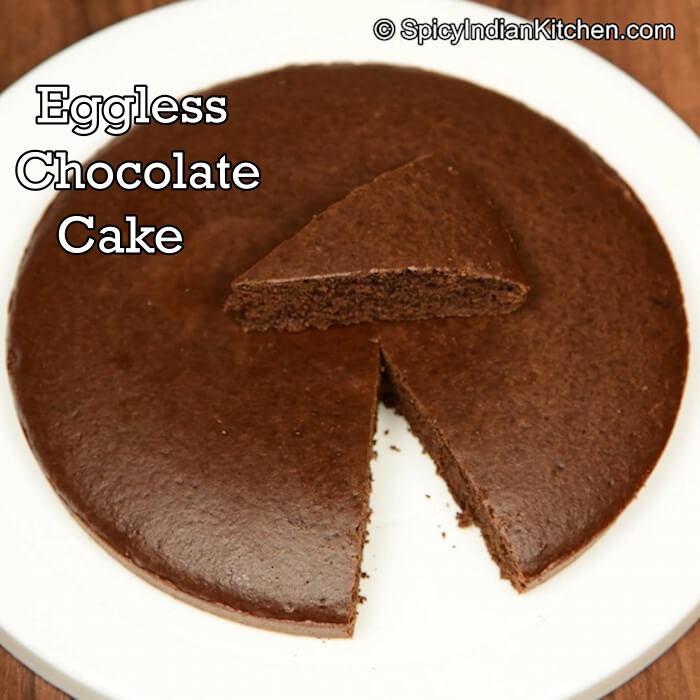 Eggless Chocolate Cake Chocolate Cake Chocolate Cake Recipe Spicy Indian Kitchen